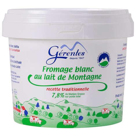 Laiterie Gérentes - Beaten white cheese with mountain milk 40% Fat Matter