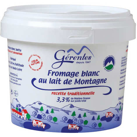 Laiterie Gérentes - Beaten fresh cheese with mountain milk 20% Fat Matter