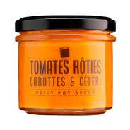 Sauce tomates rôties, carottes et céleri