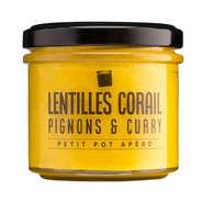 Sauce lentilles coral, pignons et curry