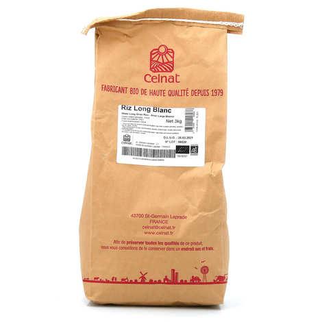 Celnat - Organic white long rice 3kg bag