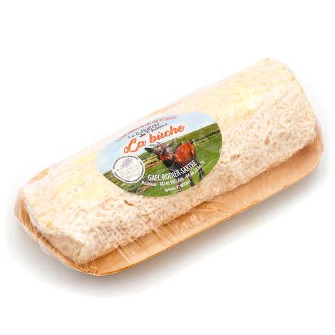 Elevage Rodier-Sartre - Cabrou de l'Aubrac log - farm cheese made with raw goat's milk