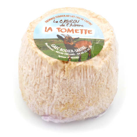 Elevage Rodier-Sartre - Tomette Cabrou of Aubrac - farm cheese with raw goat's milk