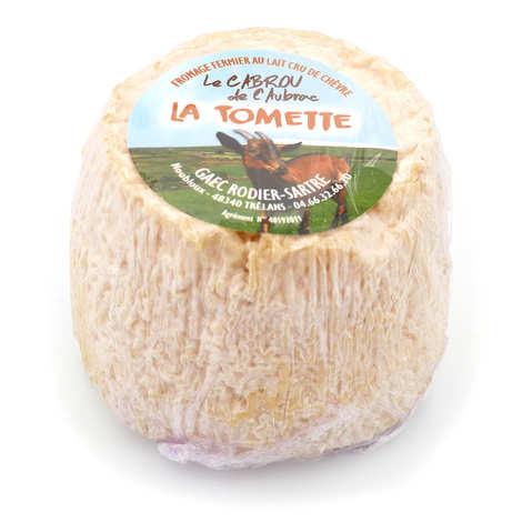 Elevage Rodier-Sartre - Tomette Cabrou de l'Aubrac - fromage fermier au lait cru de chèvre