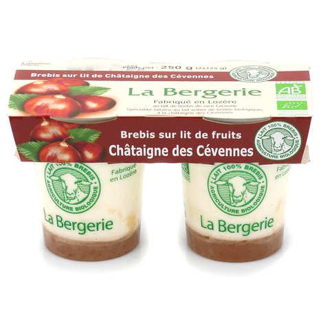 La Bergerie de Lozère - Yaourts au lait de brebis bio sur lit de Châtaigne des Cévennes