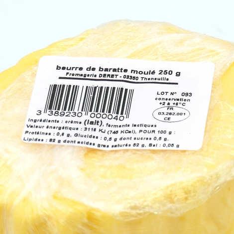 Maison Deret - Beurre de baratte doux moulé de l'Allier