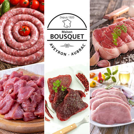 """Maison Bousquet - Colis de viande familial """"L'émincé"""" 4kg"""