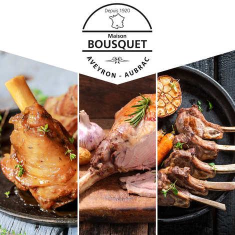"""Maison Bousquet - Colis gourmet de viande """"Agneau du Massif Central"""" 3kg"""