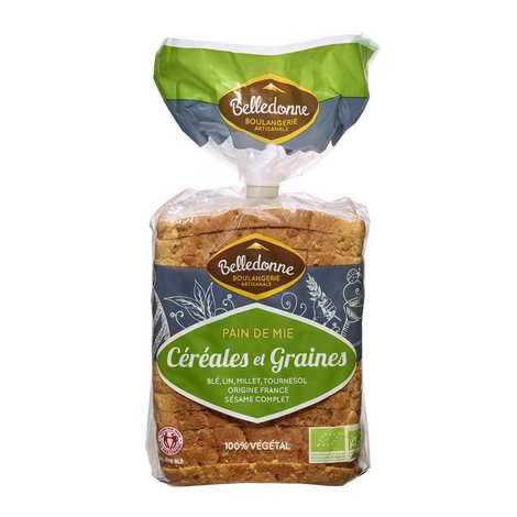 Belledonne Boulanger - Pain de mie bio céréales et graines