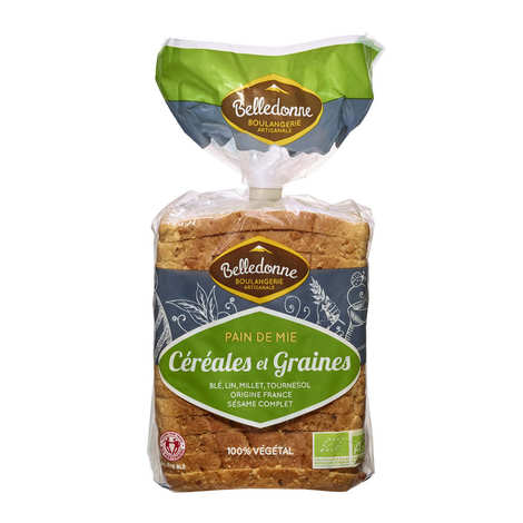 Pain de Belledonne - Organic soft bread with cereals and seeds