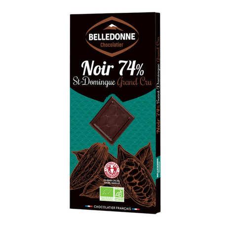 Belledonne Chocolatier - Tablette de chocolat noir bio 74% St Domingue Grand Cru