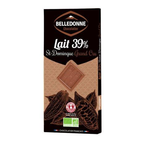 Belledonne Chocolatier - Tablette de chocolat au lait bio St Domingue