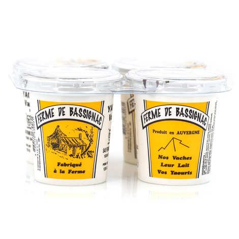 Ferme de Bassignac - Farmer's yoghurts made with cow's milk and vanilla