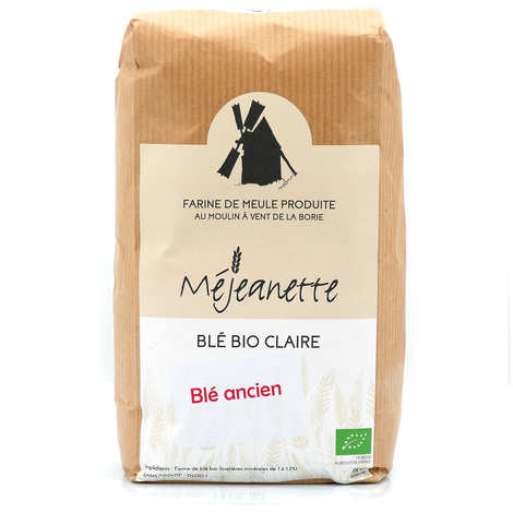 Moulin de la Borie - Farine bio de blé ancien claire (Florence Aurore) (equiv. T110) - Farine de meule Méjeanette