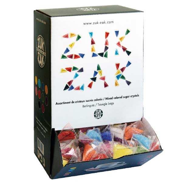 Assortiment de 380 berlingots de sucre colorés