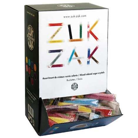 Zuk-Zak - Assortiment de bûchettes de sucre coloré
