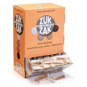 Zuk-Zak - Assortiment de bûchettes de sucre nature