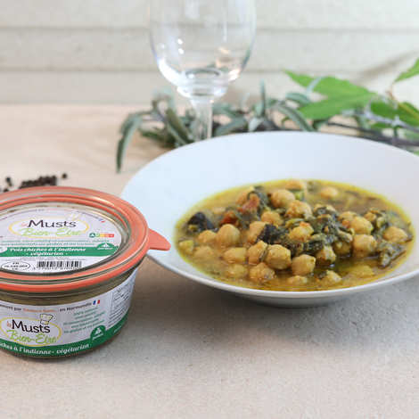 Les Musts Bien Etre - Indian-style chickpea - gluten-free and lactose-free vegan starter