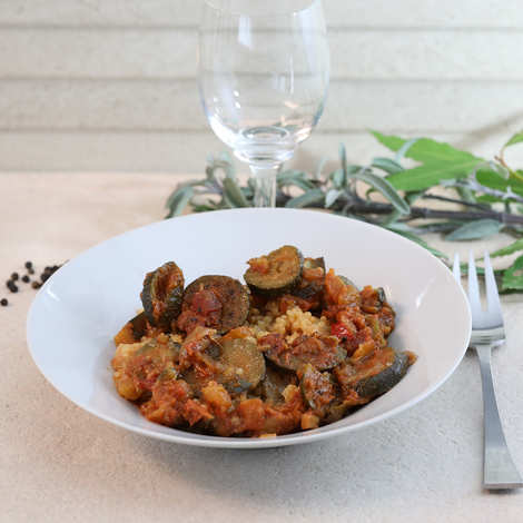 Les Musts Bien Etre - Quinoa with ratatouille - gluten and lactose free vegetarian starter