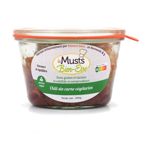 Les Musts Bien Etre - Chili Sin Carne  - gluten- and lactose-free vegan ready-made meal