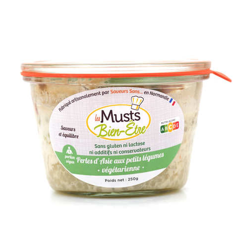 Les Musts Bien Etre - Asian pearls with small vegetables - gluten- and lactose-free vegan ready-made meal