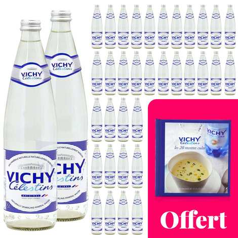 Vichy Célestins - Your cult recipes with Vichy Célestin : 36 bottles and a recipe book