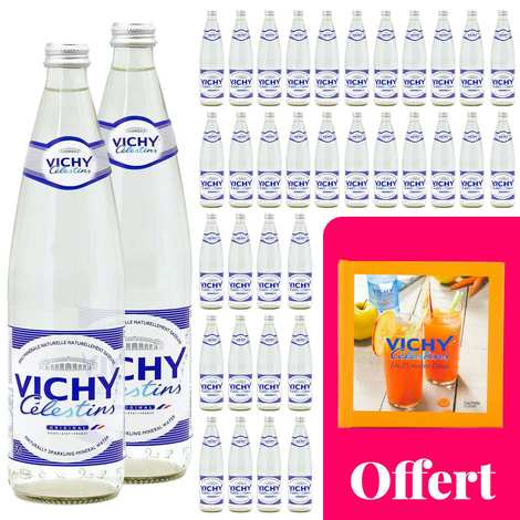 Vichy Célestins - Your detox cure with Vichy Célestin : 36 bottles and a recipe book