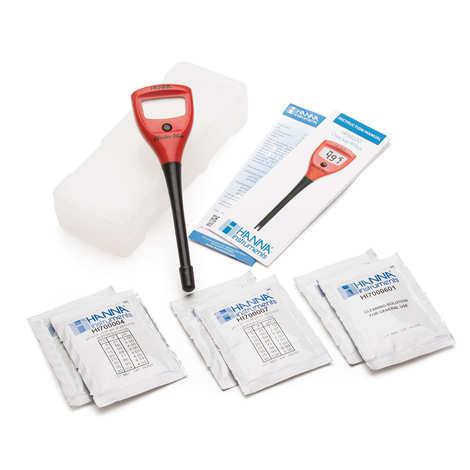 Hanna Instruments - pH-mètre électronique et 2 solutions tampons