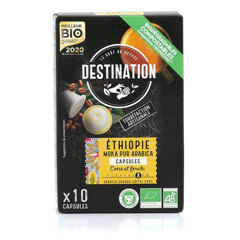 Origines Tea and Coffee - Organic Ethiopian coffee - Nespresso® compatible capsules - Intensity 7/10