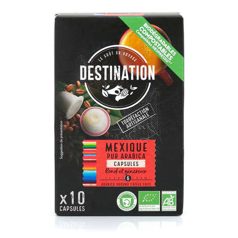 Origines Tea and Coffee - Organic Mexican coffee - Nespresso® compatible capsules - Strength 6/10