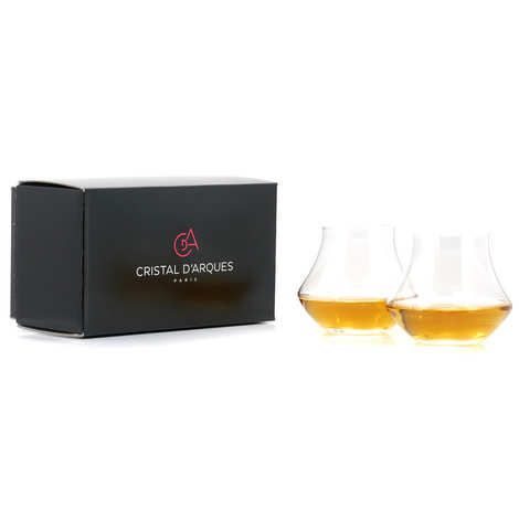 Chef & Sommelier - 2 Whisky & Rum Cristal d'Arc Tasting Glasses Box