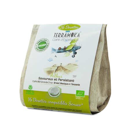 Terra Moka - Arthur - Senseo® compatible and biodegradable organic coffee pods