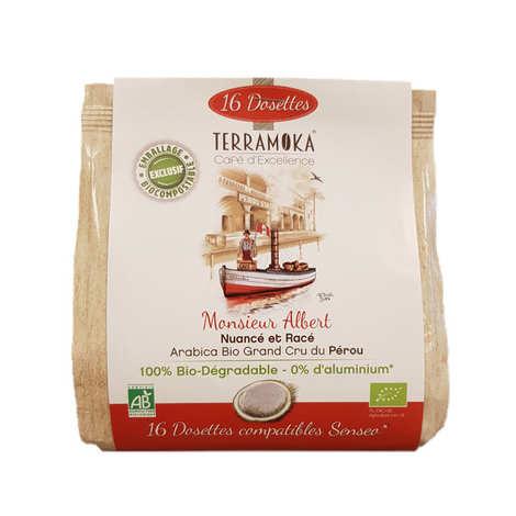 Terra Moka - Albert - Organic Arabica 100%  Coffee from Peru Senseo® Compatible pods