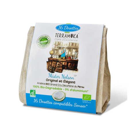 Terra Moka - Nelson decaffeinated - Senseo® compatible and biodegradable organic coffee pods