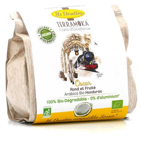 Terra Moka - Oscar - 15 Senseo® compatible biodegradable organic coffee capsules