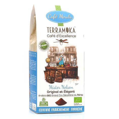 Terra Moka - Nelson - organic decaffeinated Peruvian Arabica ground coffee