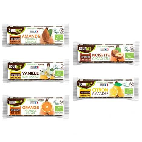 Gourmiz - Raw and organic energy bars Gourmiz - discovery pack