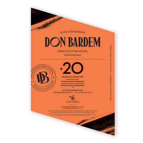 Don Bardem - Jambon Serrano EGT Grande Réserve (+24 mois d'affinage)