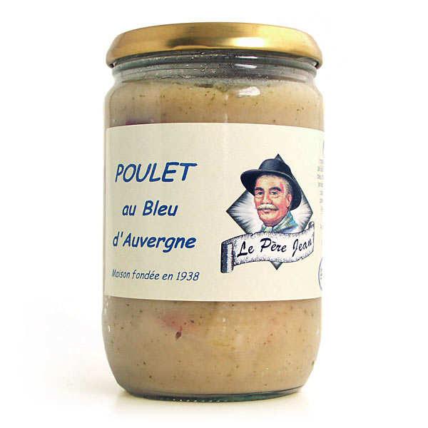 Poulet au bleu d'Auvergne