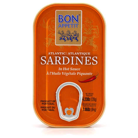 Bon Appetit - Sardines à l'huile végétale piquante