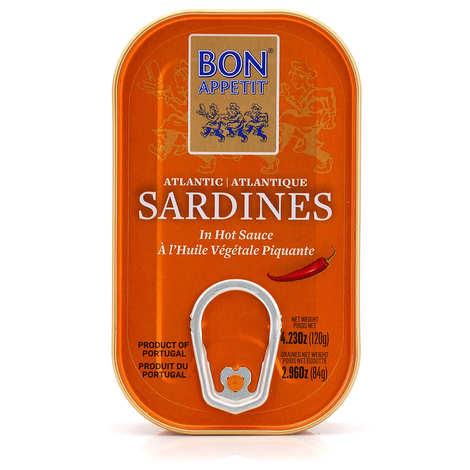 Bon Appetit - Sardines in hot vegetable oil from Portugal