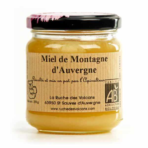 Miel de montagne d'Auvergne bio