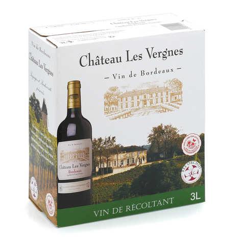 Château les Vergnes - Château les Vergnes - vin rouge AOP Bordeaux en Bib (cubi) 3L