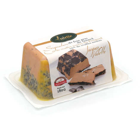 Valette - Signature of semi-cooked whole foie gras and black truffles from Périgord (10% black truffles)