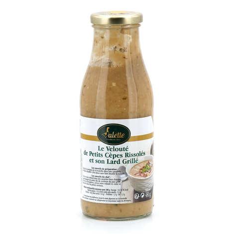 Valette - Velouté de petits cèpes rissolés et son lard grillé