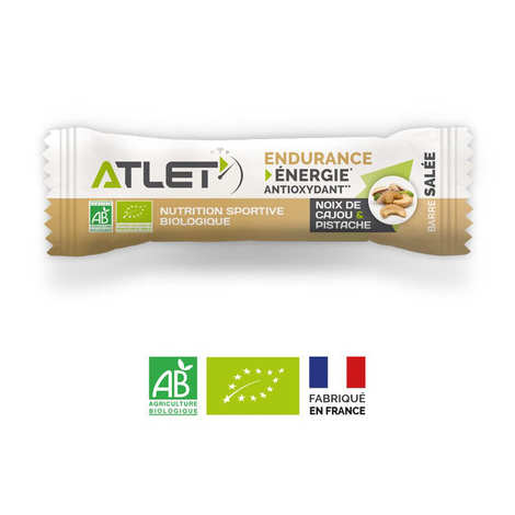 Atlet - Organic salted endurance bar with Cashew Nuts and Pistachios