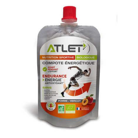 Atlet - Compote énergétique bio aux pommes et abricots
