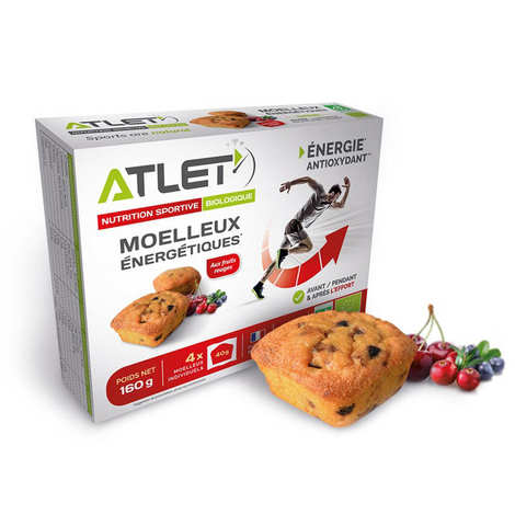Atlet - Organic energetic sponge cake with red fruits