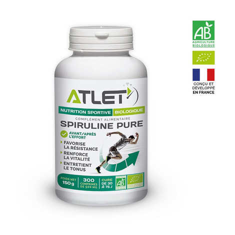 Atlet - Spiruline pure biologique en comprimés de 500mg