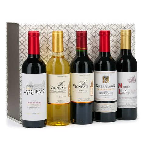 BienManger paniers garnis - Coffret cadeau 5 demi-bouteilles de vins